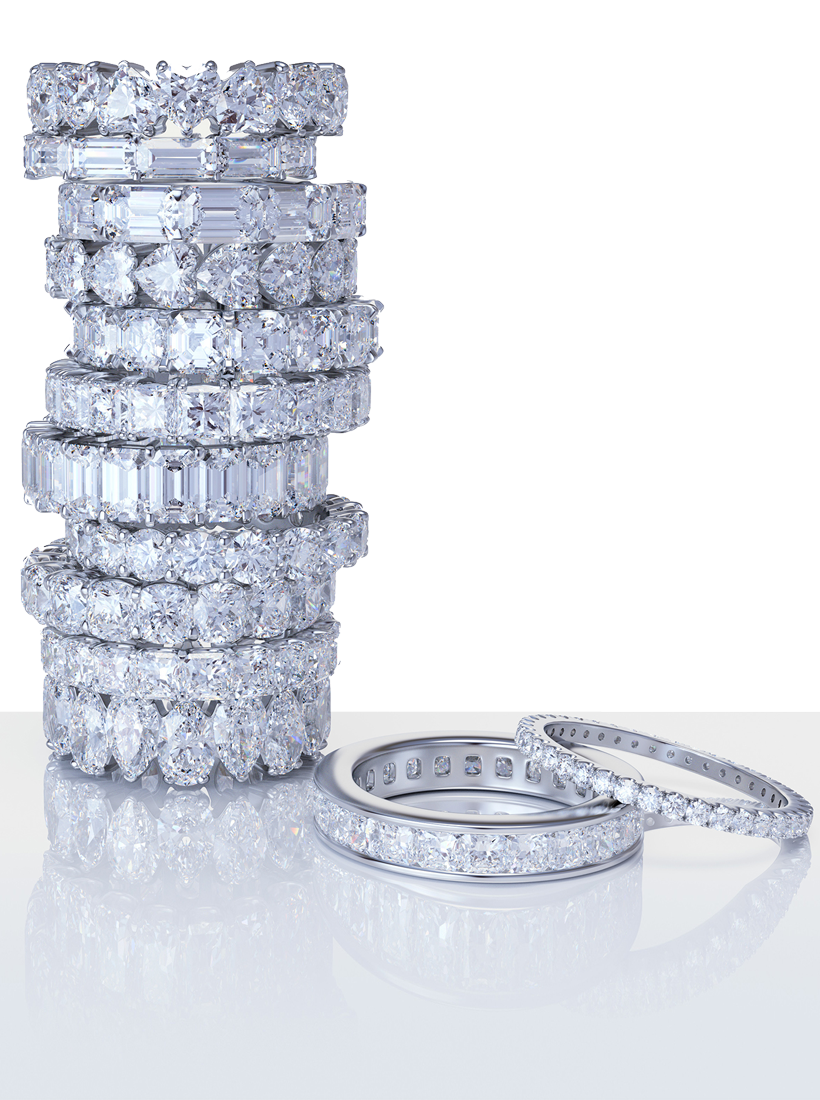 diamond band stack